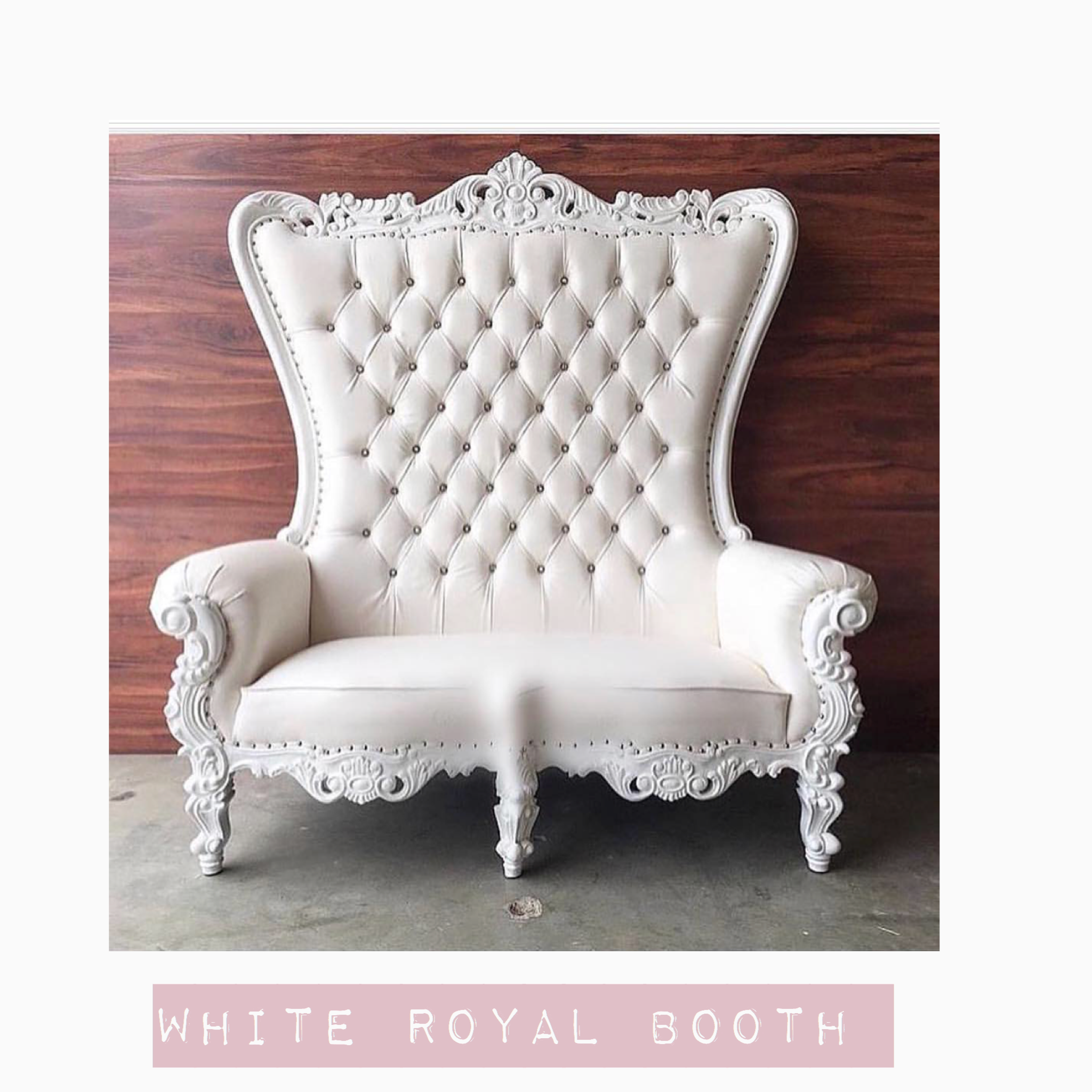White Double Throne Chair Party Perfect Make your party perfect